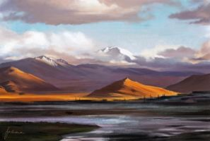 Landscape study: Tibet by dewmanna
