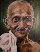 Mohandas K. Gandhi by chopperhat