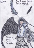 White Feather - 1Winged Angel by chocostyle13