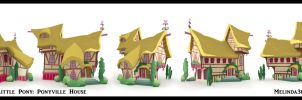 3d Ponyville Building by Rivenchan