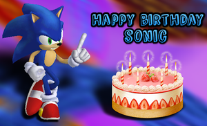 Happy (late) 24th birthday sonic! by supersilver27
