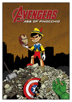 Avengers: Age of Pinocchio by drawinkpaper