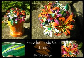 Recycled Soda Can Lilies-full by Christine-Eige