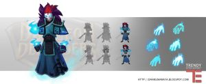 Dungeon Defenders Spirit Warrior Concept Art by DanielAraya