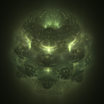 Green Mandelbulb by cab1n