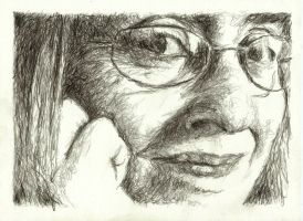 self portrait (pencil) by delph-ambi