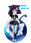 [CLOSED]Adopt Auction 1 - Blue Demon Cat [1/3] by Mavii-chuu