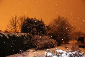 First Snow at Night by YunaHeileen