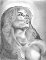 Mary Magdalene drawing - dibujo de Maria Magdalena by tlacuilopilo