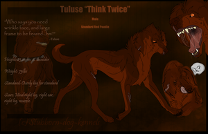 Tuluse Reference (Mafia Dog) by Stubborn-Dog-Kennels