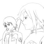 Sketch - Heine and Athrun by RQL