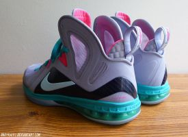 Nike Lebron 9 Elite 'Miami Vice' 2 by BBoyKai91
