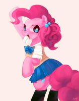 Pinkie pie in school uniform by amy30535