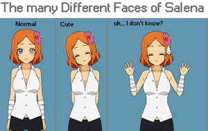 The Many Faces of Salena - Soul Eater Oc by Katie-Kimii