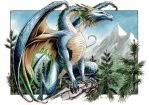 Northern Blue Dragon by DanielGovar