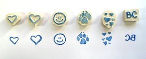 Carved Rubber Stamps by Rebeccannoying