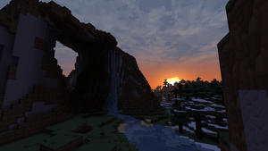 Minecraft - Surreal Sunset by HappyKnight