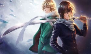 Yato and Yukine by shobey1kanoby