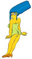 Marge Simpson, Size Too Small by PervyAngel