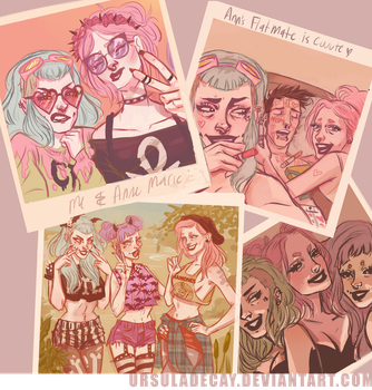 Veruca and Ann art dump by UrsulaDecay