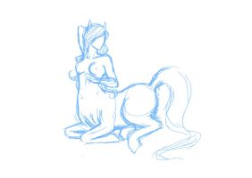 Centaur sketch 2 by LeeWhiro