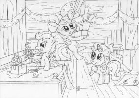 December Draw Off 2 CMC Gift Wrappers Outline by Template93