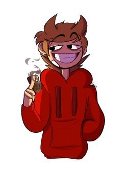 Another hoodied dude by Slice-of-Eyebrows