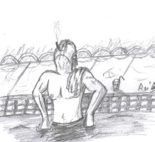 A smoker in the water by ReiDunamis