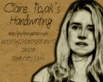 Claire's Handwriting by TheGeminiSage