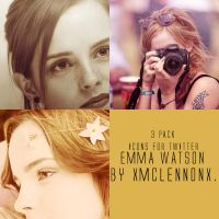 Emma Watson Icons for Twitter by xMcLennonx