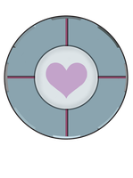 Weighted Companion Cube Pin by BrittanysDesigns