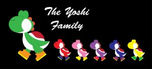 The Yoshi Family by gemstonelover49
