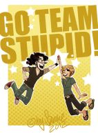 go team stupid by starsandpolkadots