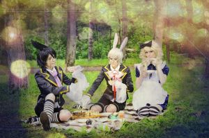 Alice and rabbits by kalepa