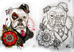 Sir Tyke the Bulldog by Frosttattoo