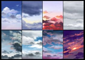 Skies and clouds by starca