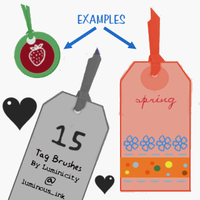 Tag brushes by luminicity