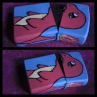 Charmander Zippo Case by MultiColouredMonster