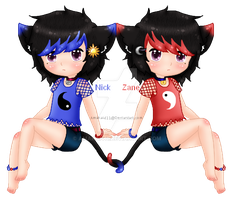 Neko Twins: NickZane by Amakai411