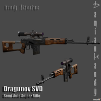 Dragunov SVD Sniper Rifle by DamianHandy
