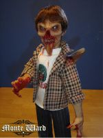 "Axed Back Zombie 16"" figure by dreggs88"