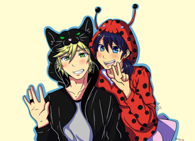 Miraculous Couple by Marima15