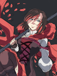 RWBY - Ruby V4 doodle (wip) by KatharineArt