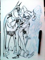 Bats, Harley, Joker drama_Sketch by tombancroft