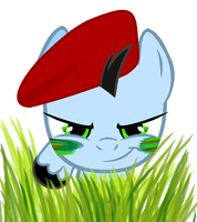 Pff...He thinks that I can't see him! by MoonCloudTheBrony
