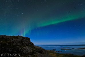 Auroras over Mjelle II by SindreAHN