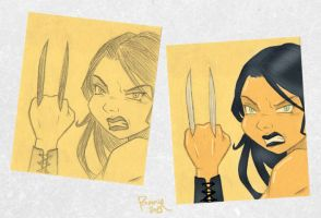 post-it: X-23 by IslaDelCoco