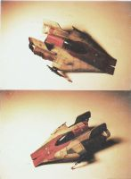 Star Wars_A-Wing Fighter_ala MPC by BecDeCorbin
