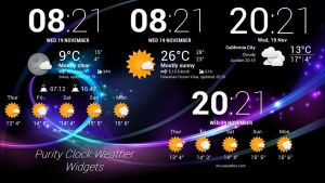 Purity Clock Weather Widgets (4-7)  for xwidget by jimking