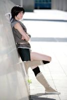 Yuffie - against the wall by Kairi-Heartless